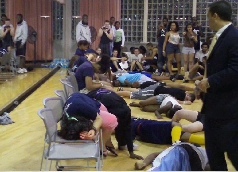 hypnotized students deep asleep in hypnosis
